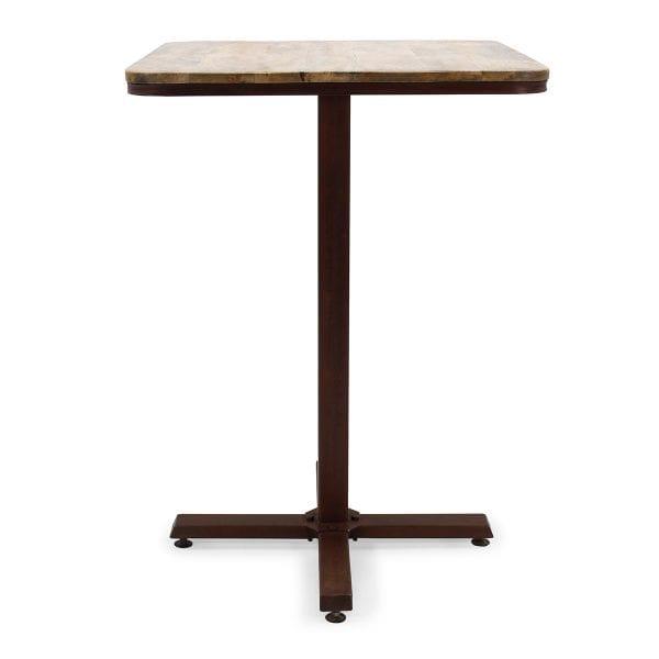 Tables hautes pour cafétérias carrées modèle Adriana.
