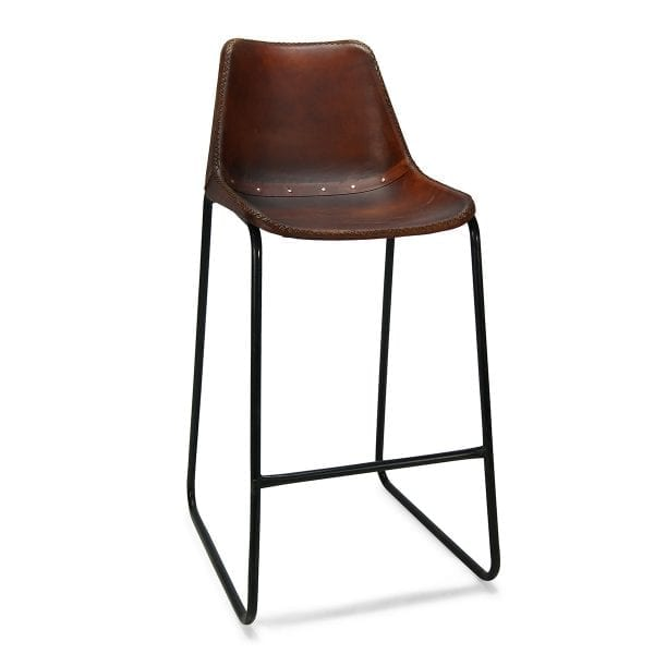Photo. Tabouret bar haut style vintage.