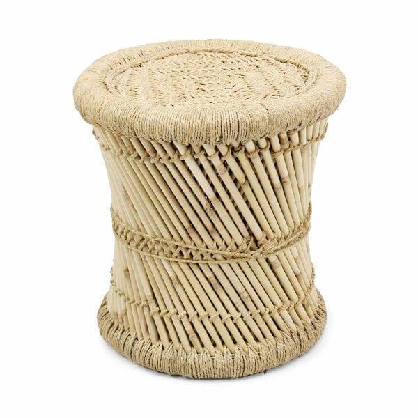 Tabouret de bar fabriqué en bambou.