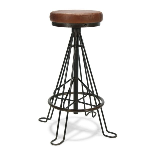 Photo. Tabouret en fer design vintage.