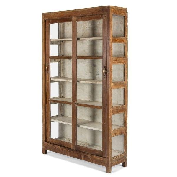 Muebles vitrinas antiguas para comercios.
