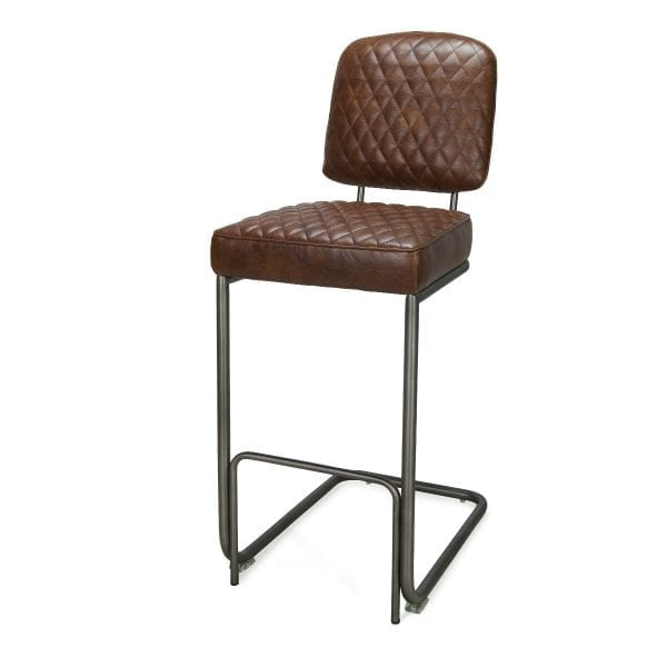 Tabourets bar haut design marron Durham