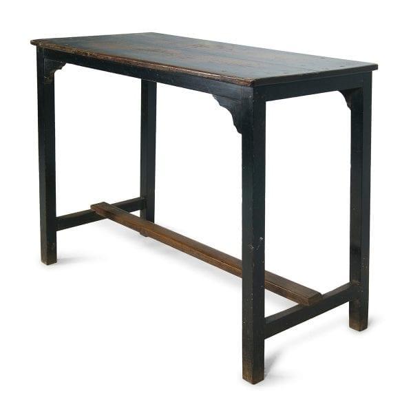 Ancienne table vintage dans les tons bleus.