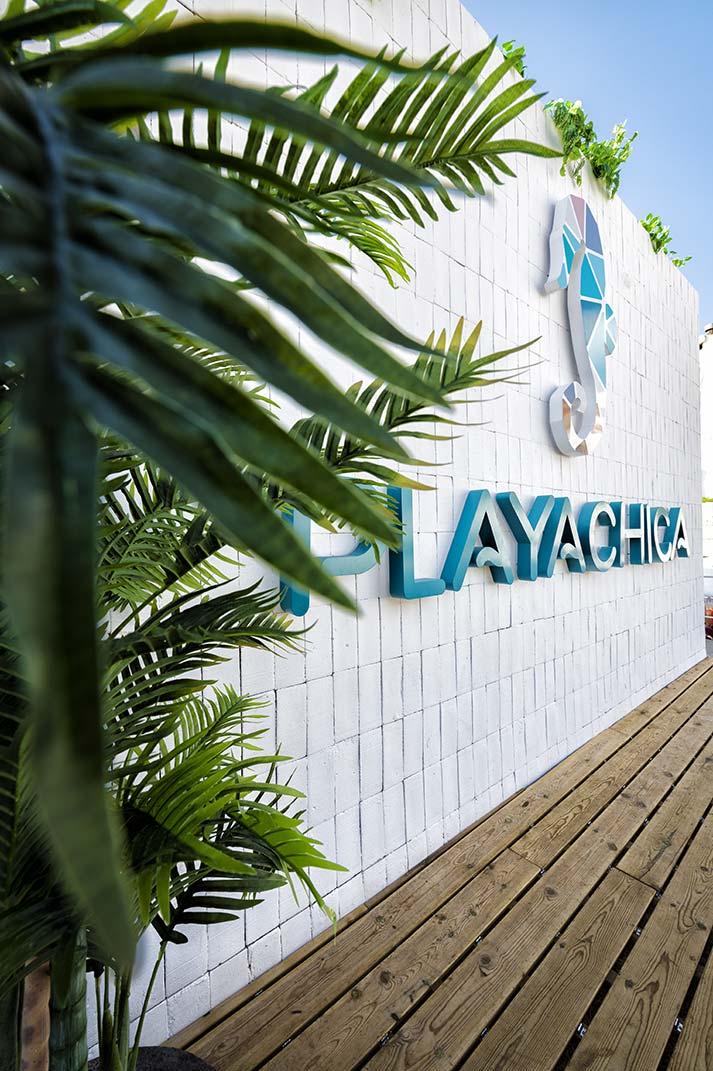 Concept de décoration 100%FS du restaurant Playachica.