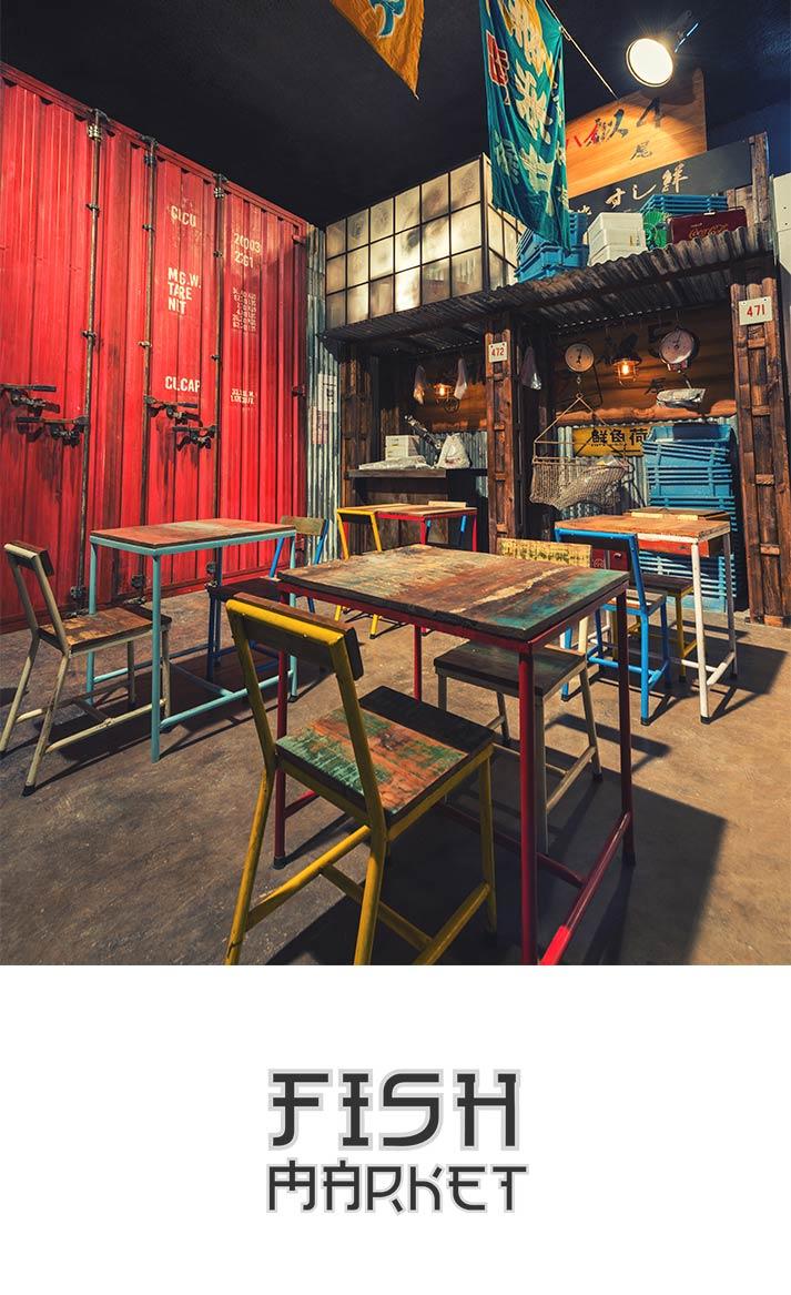 Nouveau concept de restaurant japonais original.