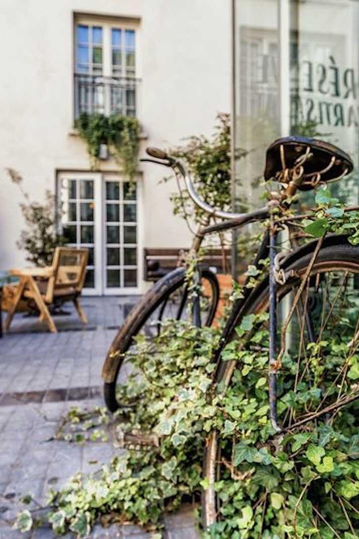 Décoration de l'hôtel restaurant Le Kube à Paris.