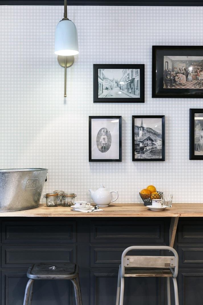 restaurant la popote d ondine avec une d coration vintage. Black Bedroom Furniture Sets. Home Design Ideas