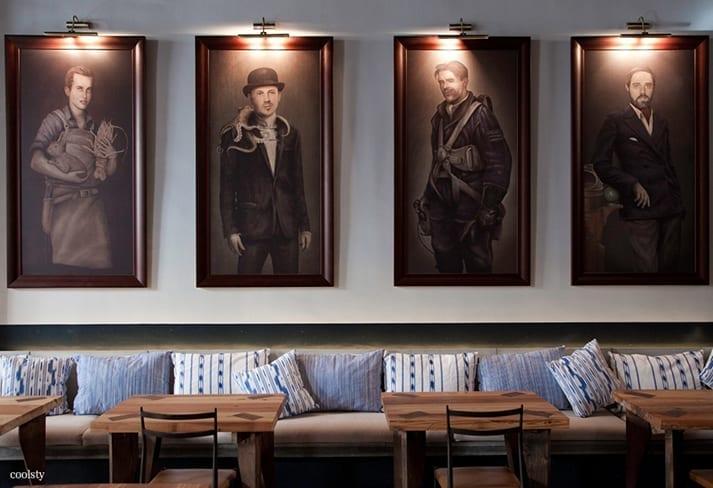 Imágenes del diseño de bares y restaurantes.