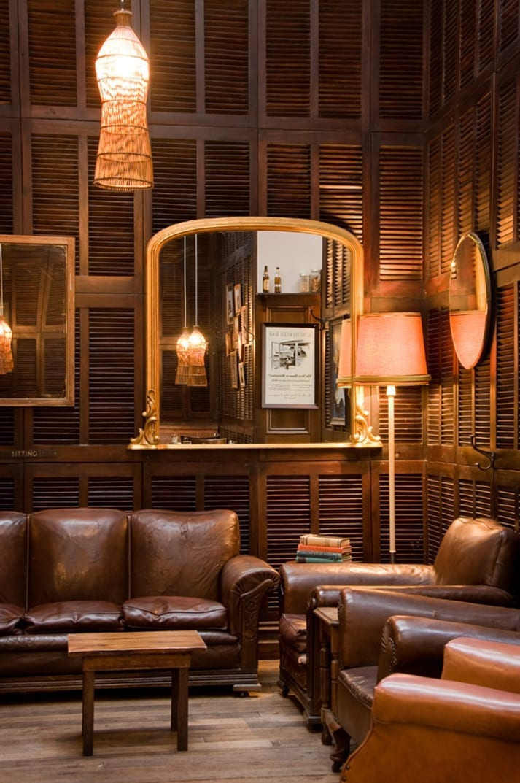 Imágenes del diseño de restaurantes vintage.