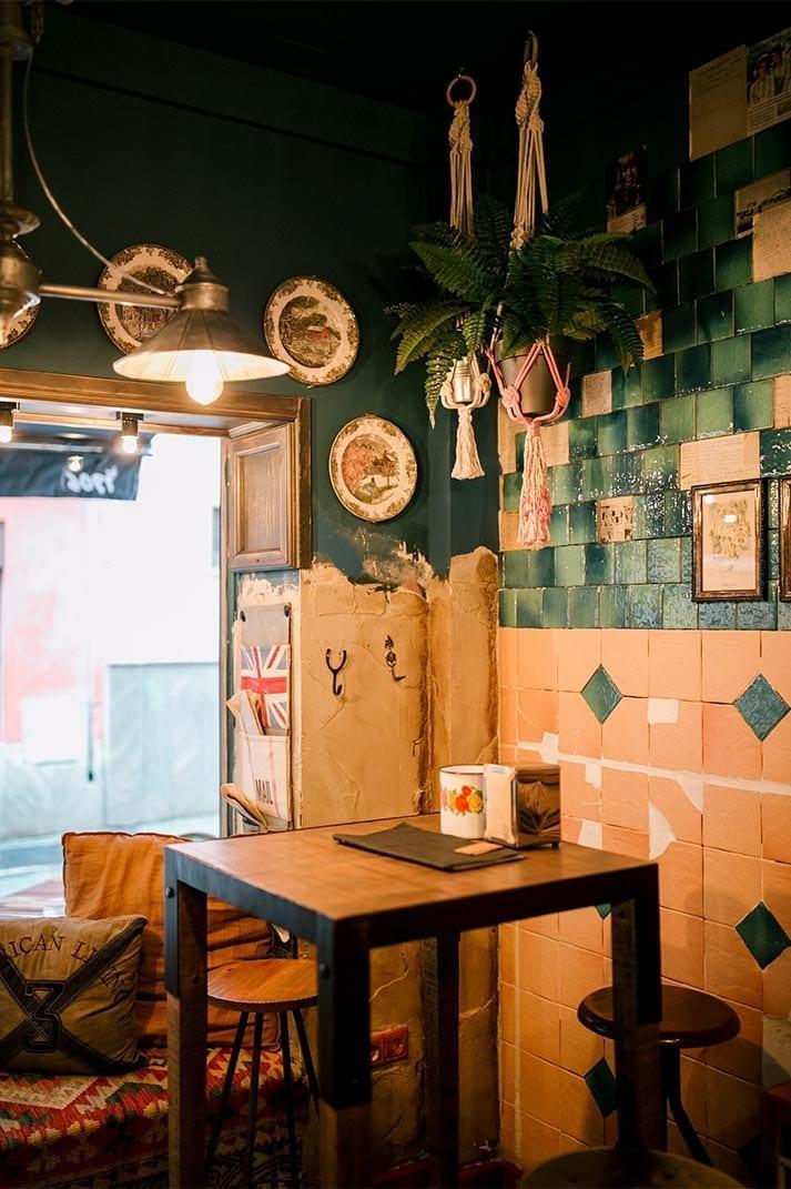 Diseño del bar vintage Rosario Varela.