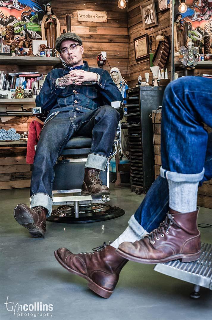 Exemples agencement et déco barbershop.