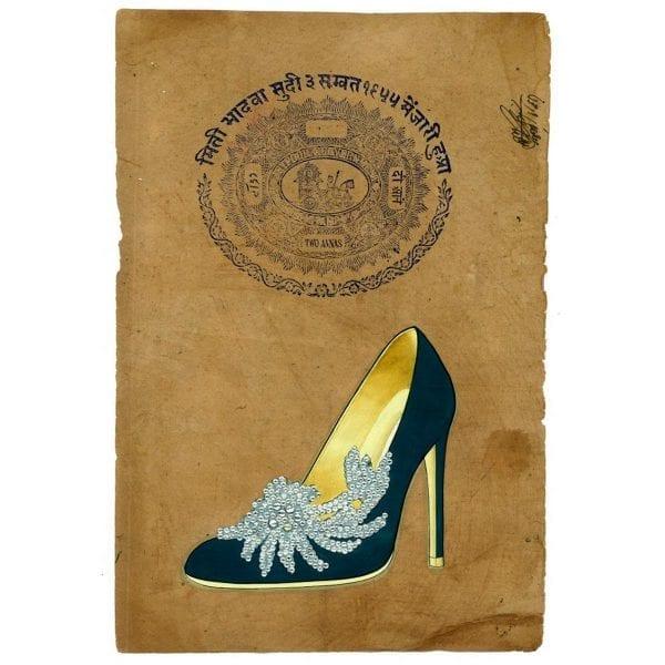 Illustration originale chaussures pour magasins.