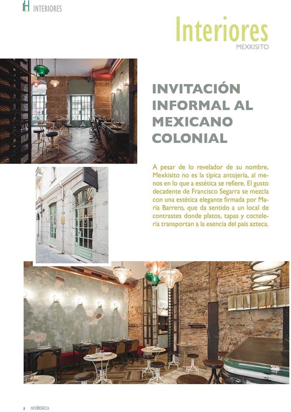 Mexkisito en interiores InfoHoreca.