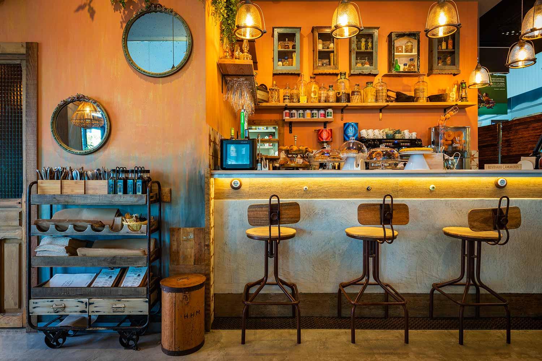 Proyecto de interiorismo de cafeterías y bares en Madrid.