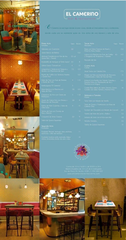 Imágenes de mobiliario contract en restaurante El Camerino