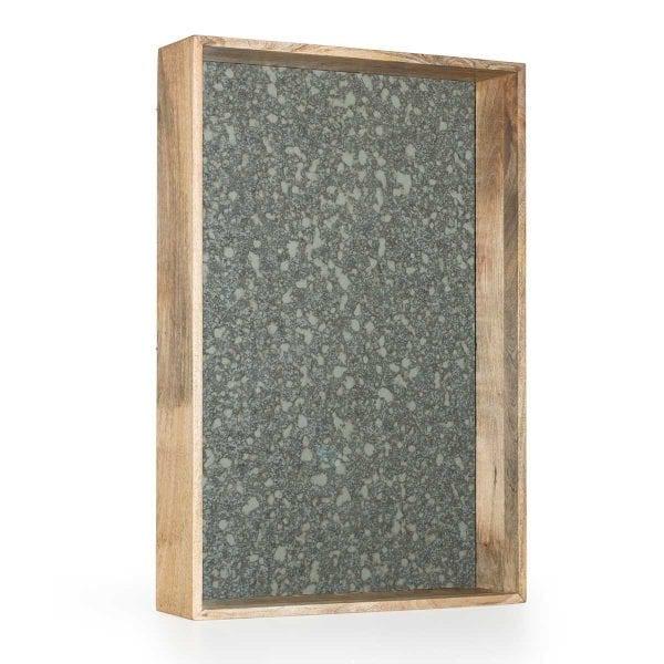 Miroir en bois pour déco.