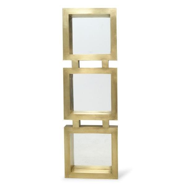 Miroir doré original objet deco de bar.