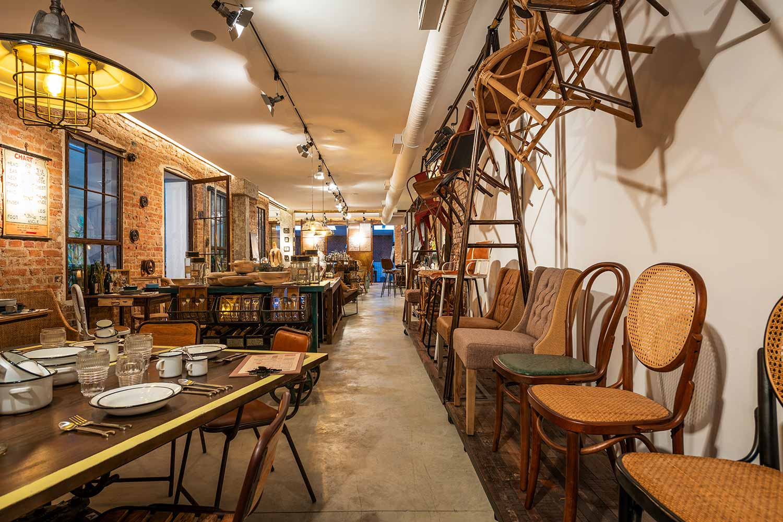 Imagen del mobiliario para hostelería FS en Madrid.
