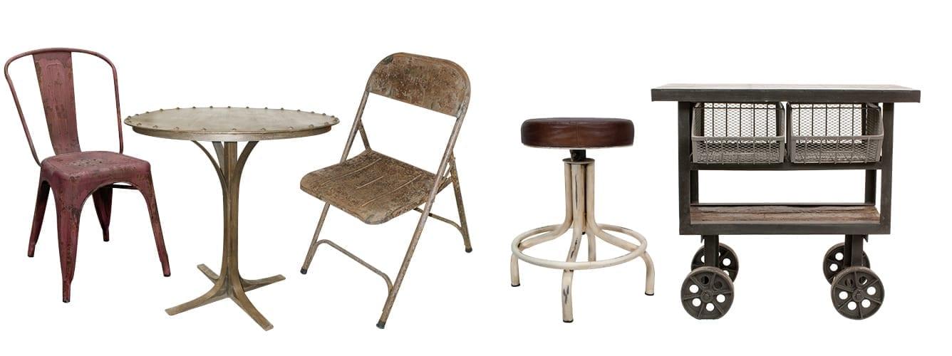 Fotos. Mobiliario de estilo industrial para proyectos de interiorismo.