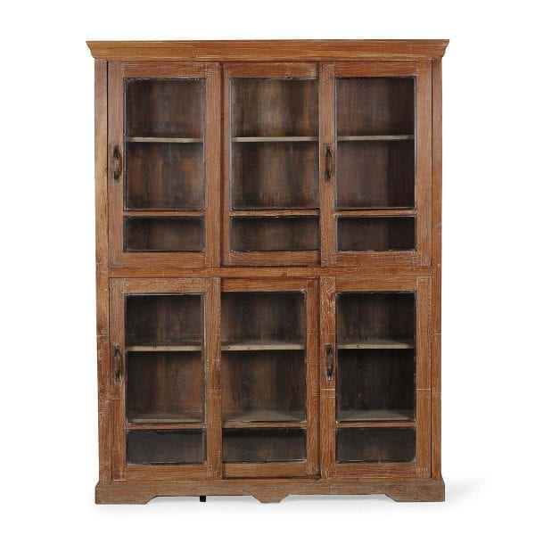 Mueble expositor antiguo de madera.