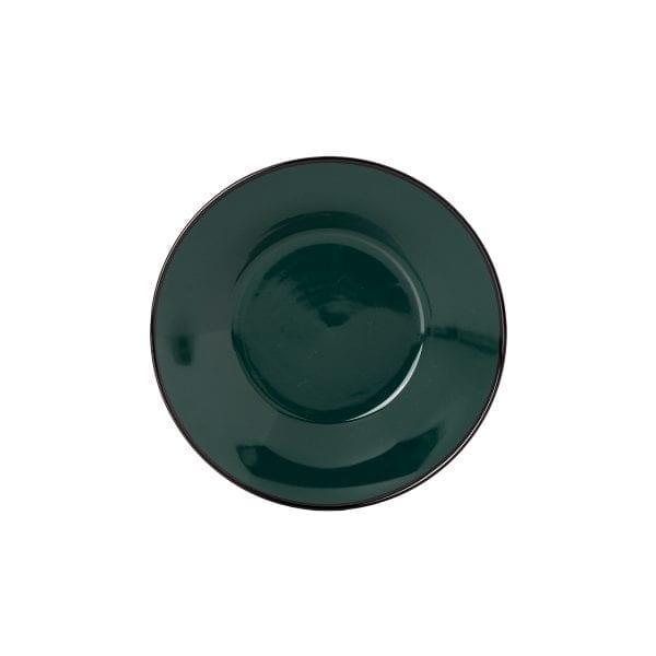 Plato hondo en cerámica verde.