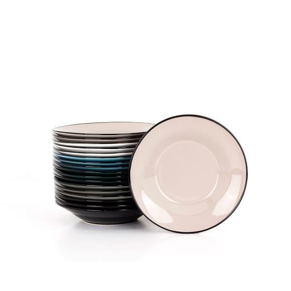 Platos hondos en cerámica para hostelería.