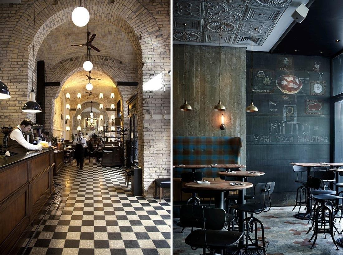 Imágenes. Proyectos de interiorismo de estilo industrial.