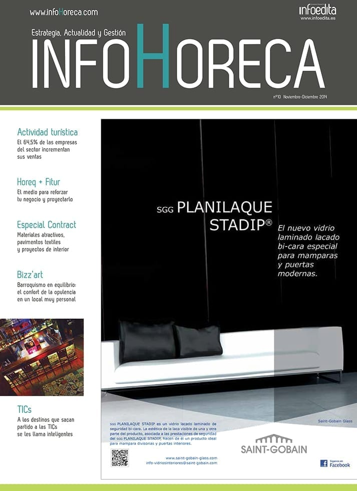 Imágenes da la portada d ela publicación InfoHoreca.