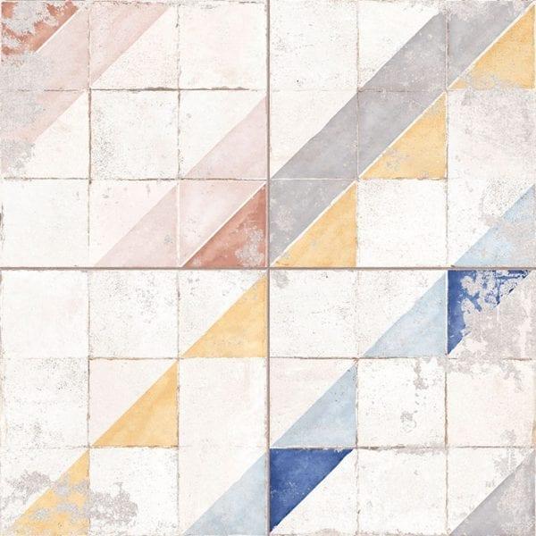 Revêtement de sol imitation mosaïque.