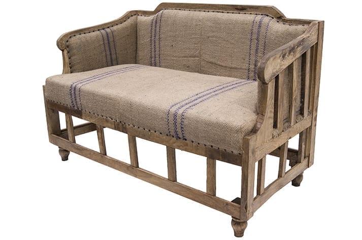 Imagen del Sofá de estilo industrial en yute modelo Imix.