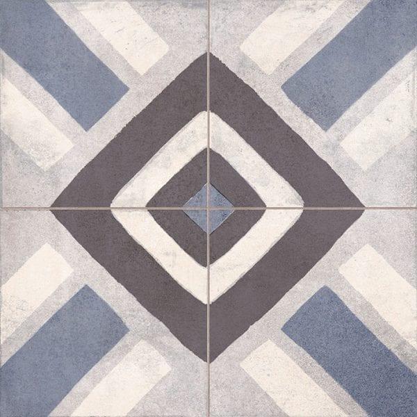 Suelos porcelanicos geométricos FS SENA BLUE.