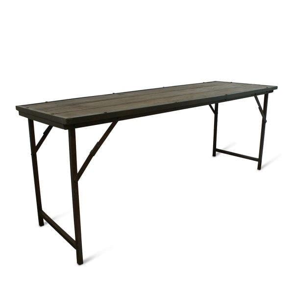Photo.Table ancienne pliable pour hôtellerie.