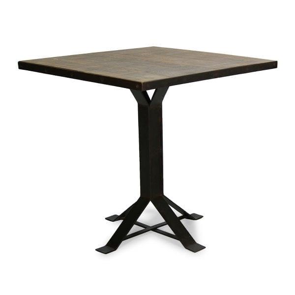 Photo. Table à caractère vintage style industriel.