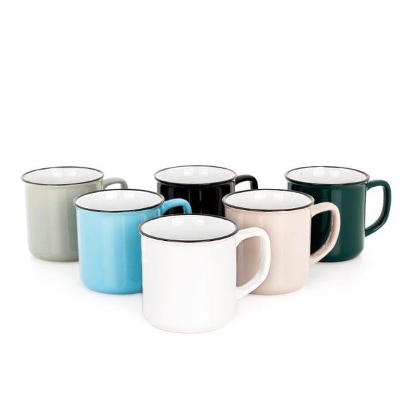 Bonitas tazas en cerámica para hostelería.