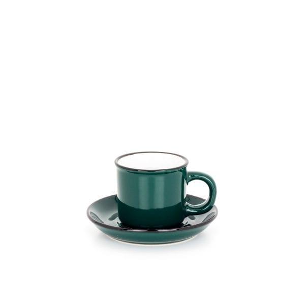 Taza de café verde para restaurante.