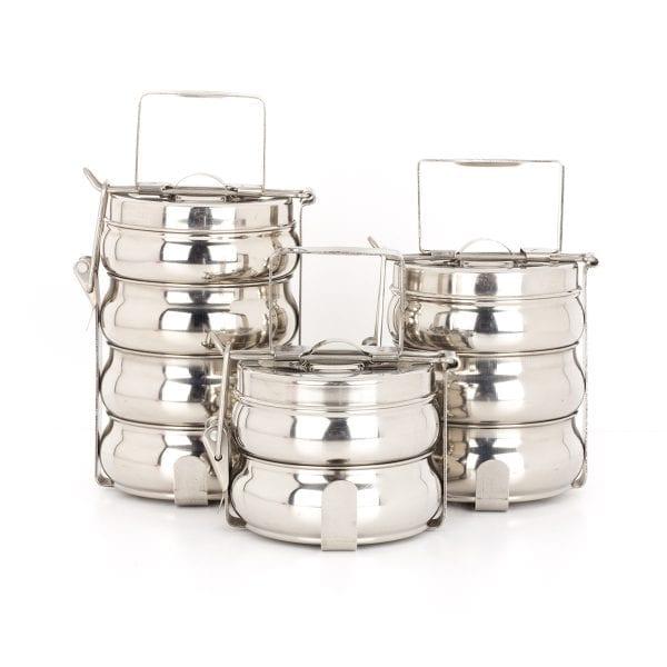 Tiffins de acero inoxidable de venta online.