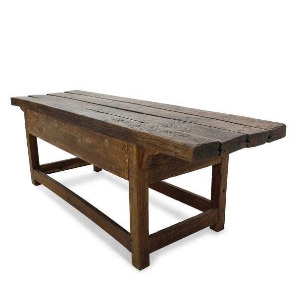 Antique wooden side tables for interior design.