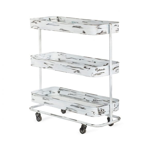 Auxiliary serving trolley.
