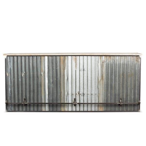 Barras de bar estilo industrial.