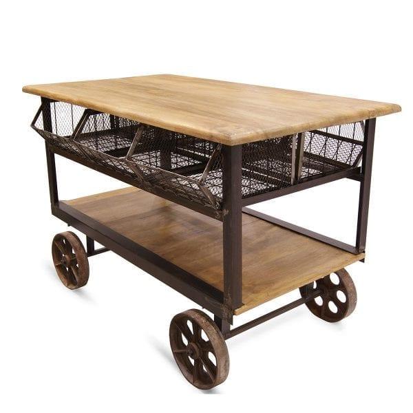 Picture of the hospitality bar cart Aura model, online on Francisco Segarra.