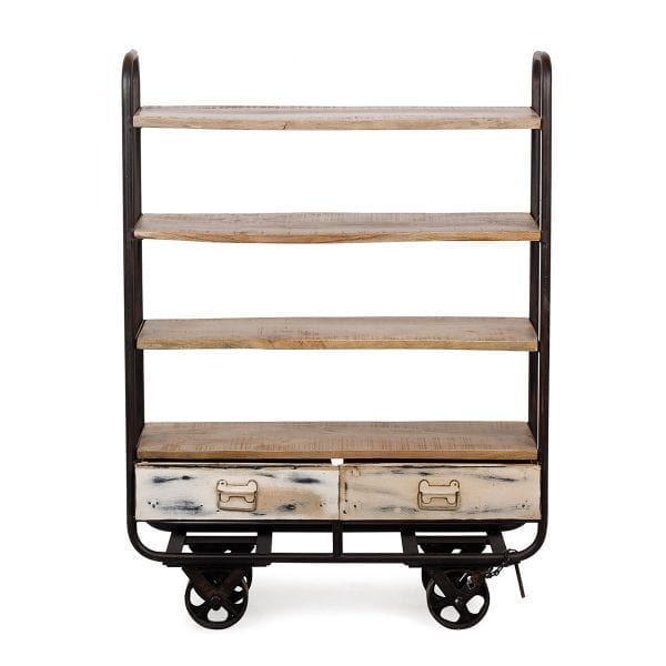 Picture of the utility carts to retro industrial decoration in hospitality.