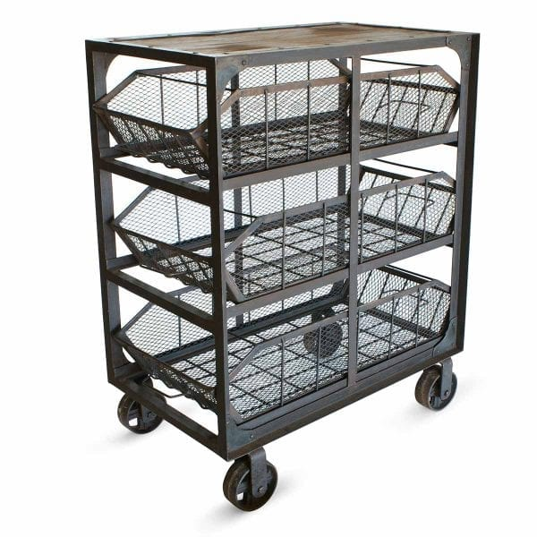 Industrial storage carts, commercial furniture.
