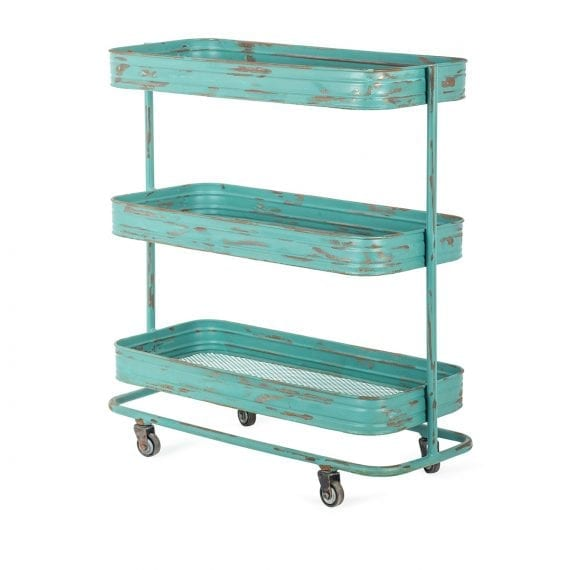 Bar cart in iron for commercial equipment.
