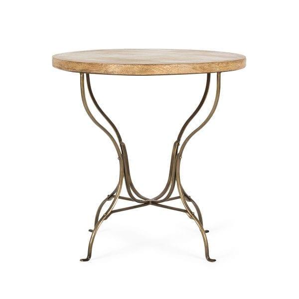 Mesas redondas para cafetería robustas y elegantes.