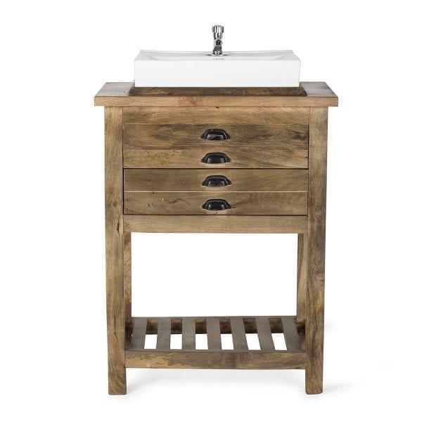 Mueble de baño con lavabo.