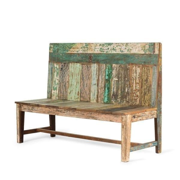Mueble de madera reciclada.