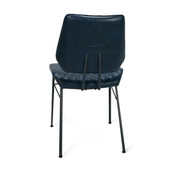 Imagen trasera de la silla retro en polipiel.
