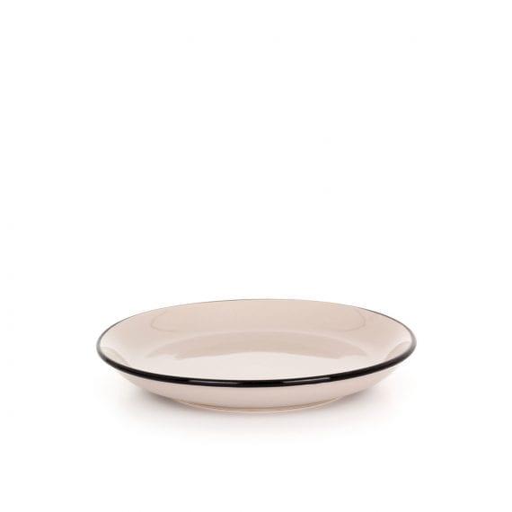 Small ceramic plate in beige.