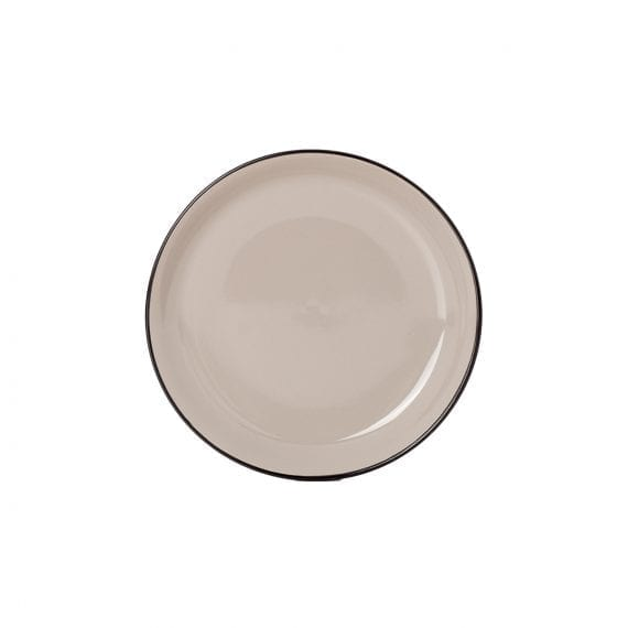 Small beige plate for hospitality.