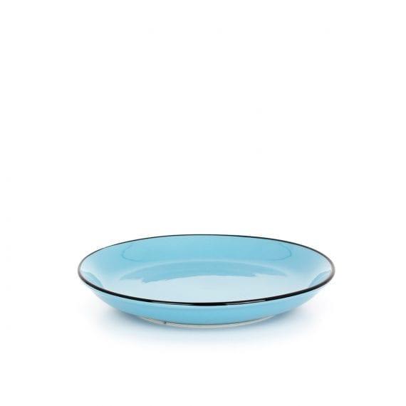 Small ceramic plate in blue.